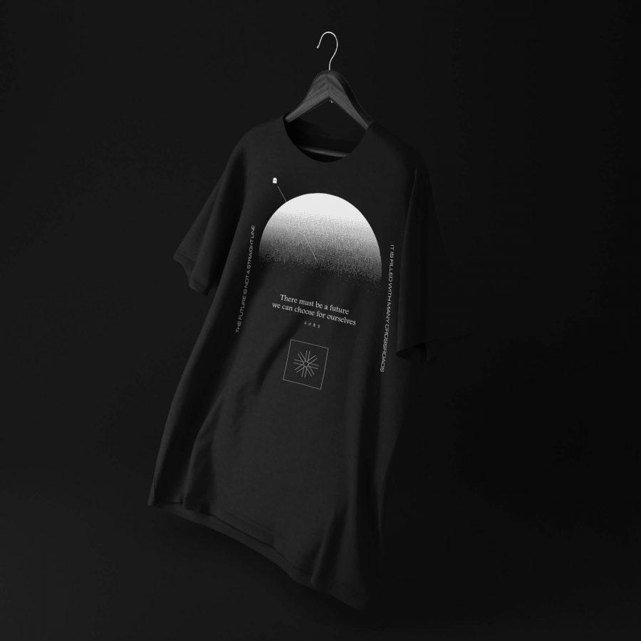 Divergent Futures T-shirt mockup